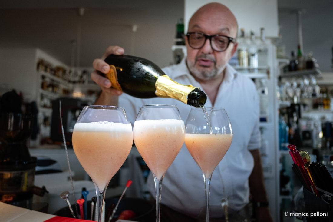 Saturnia Bellini Cocktail _ Bar Renzetti