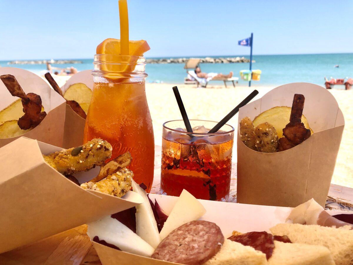 Delivery in spiaggia nelle Marche