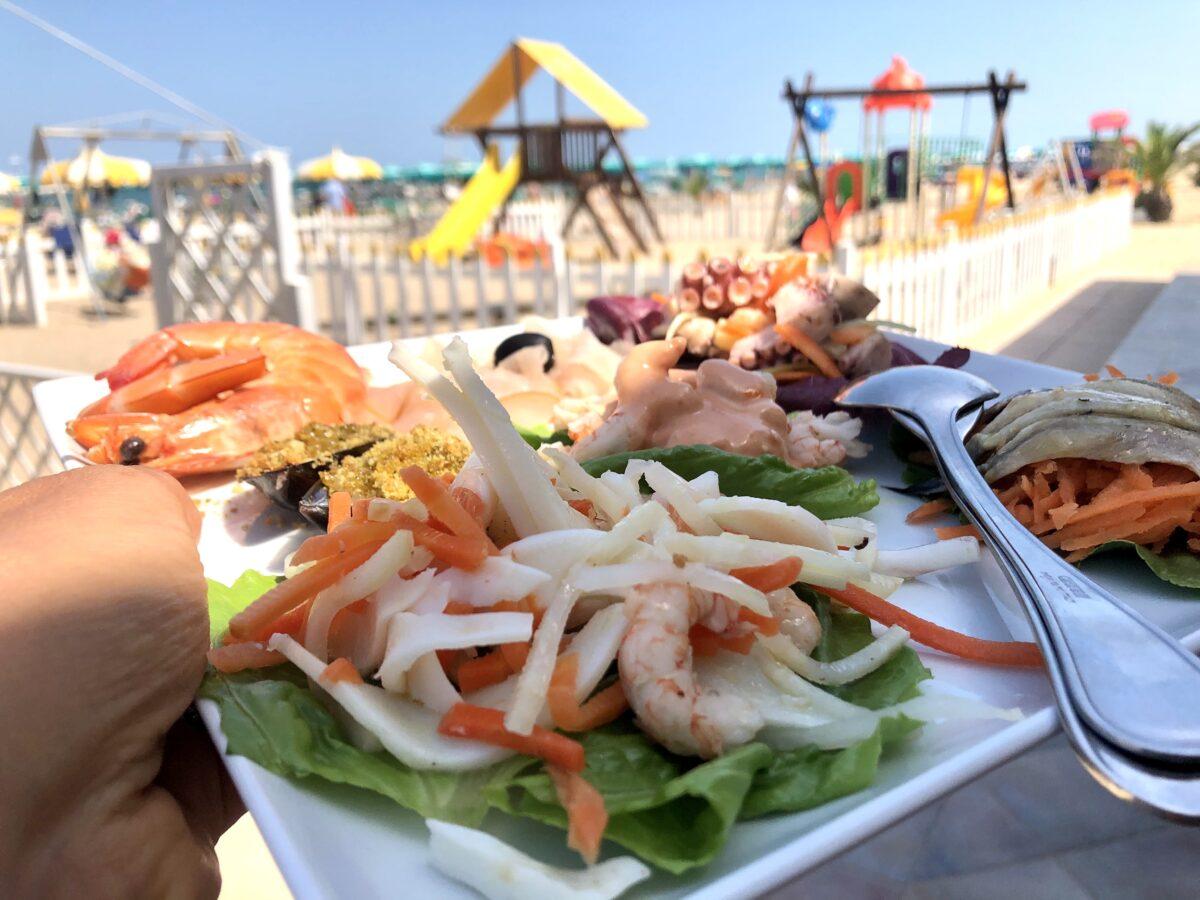 Antipasto solero beach Porto Potenza