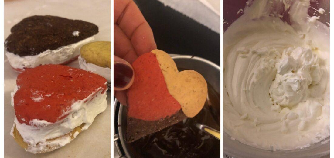 Biscotti farciti di gelato